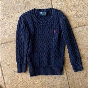 Boys navy polo sweater
